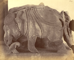 Sculpture of an elephant, said to have come from Mandhata, Nimar District, in the Nagpur Museum